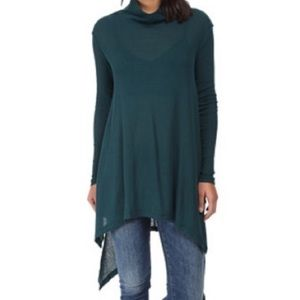 We The Free oversized mock neck tunic Teal medium